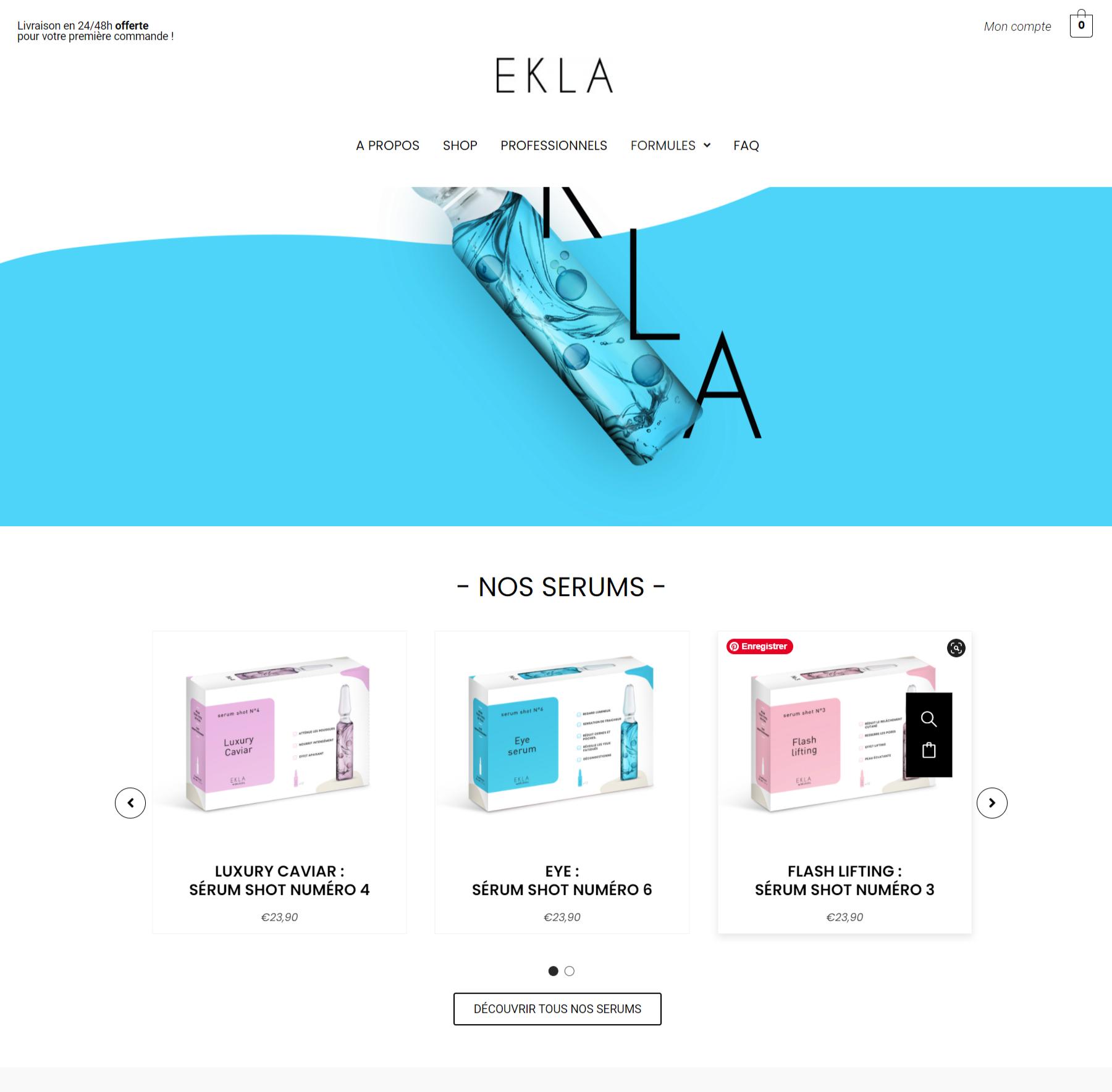 creation site web ekla